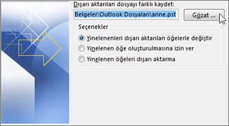 Microsoft Office Outlook E posta Yedekleme!