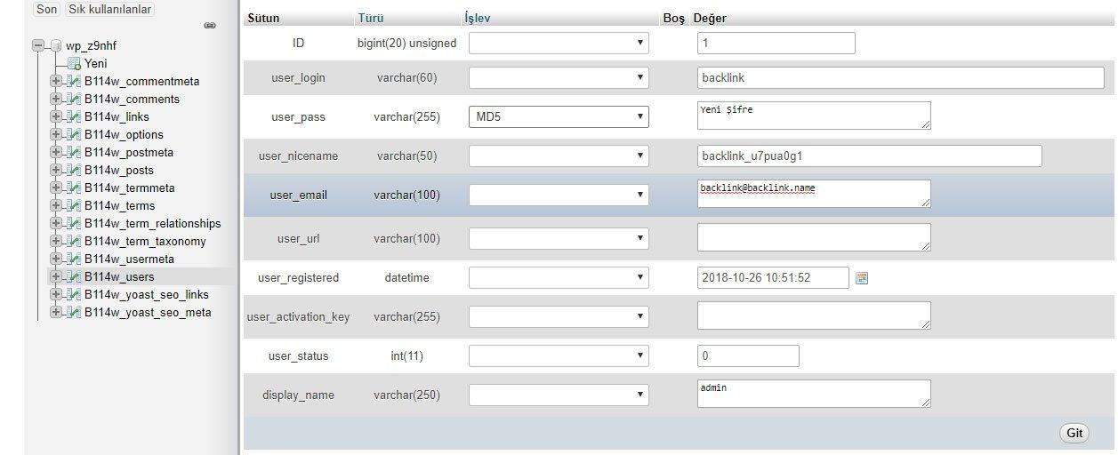 WordPress şifre güncelleme nasıl yapılır