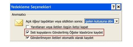 Office 2007 IMAP e-posta hesabı kullanırken gönderilen iletilerin kaydedileceği yeri değiştirme